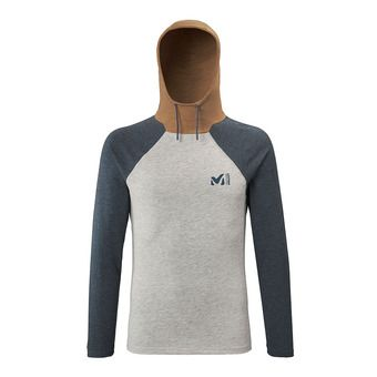 Millet RED WALL LIGHT HOODIE - T-shirt Uomo heather grey/orion blue
