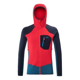 Millet TRILOGY DUAL WOOL HOODIE - Fleece - Men's - indian/rouge