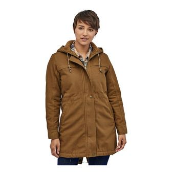 Patagonia INSULATED PRAIRIE DAWN - Parka Jacket - Women's - owl brown