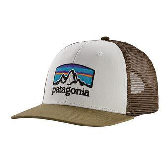 Fitz Roy Horizons Trucker Hat Unisexe White w/Sage Khaki