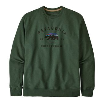 Patagonia ARCHED FITZ ROY BEAR UPRISAL CREW - Sweatshirt - Men's - alder green