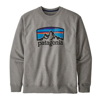 Patagonia FITZ ROY HORIZONS UPRISAL CREW - Felpa Uomo gravel heather
