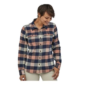 W's L/S Fjord Flannel Shirt Femme Upriver: Century Pink