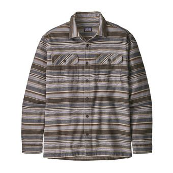 Patagonia FJORD FLANNEL - Chemise Homme folk dobby/bristle brown