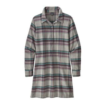 Patagonia FJORD - Vestido mujer cabin time/drifter grey
