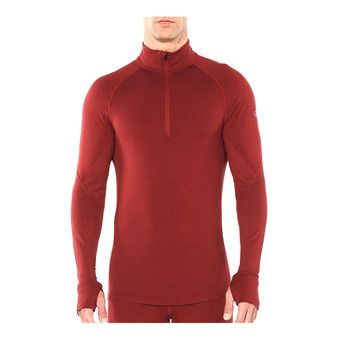 Icebreaker 260 ZONE - Sous-couche Homme cabernet/chili red