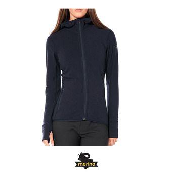 Wmns Descender LS Zip Hood / Midnight Navy Femme Midnight Navy
