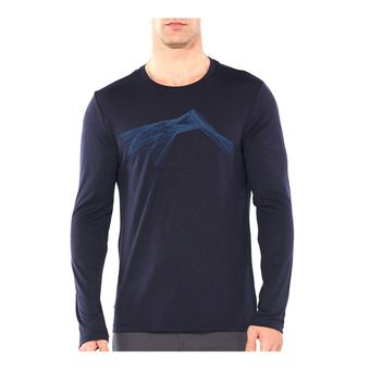 Icebreaker TECH LITE - T-Shirt - Men's - shear/midnight navy
