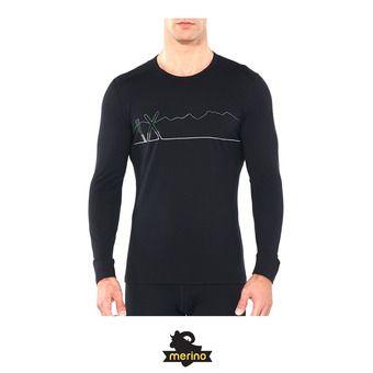 Icebreaker 200 OASIS - Camiseta térmica hombre single line ski/black