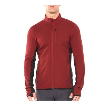 Icebreaker DESCENDER - Jacket - Men's - cabernet/charred