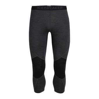 Icebreaker 260 ZONE - 3/4 Leggings - Men's - jet hthr/black