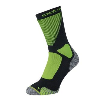 Odlo CERAMIWARM XC - Chaussettes black/safety yellow