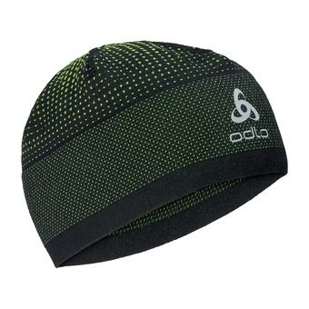Odlo VELOCITY CERAMIWARM - Bonnet black/safety yellow