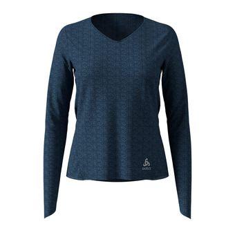 Odlo LOU LINENCOOL - Tee-shirt Femme blue wing teal melange