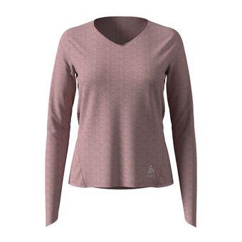 Odlo LOU LINENCOOL - Camiseta mujer woodrose melange