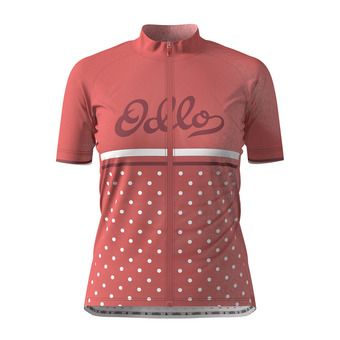 Odlo ELEMENT PRINT - Camiseta mujer faded rose/retro