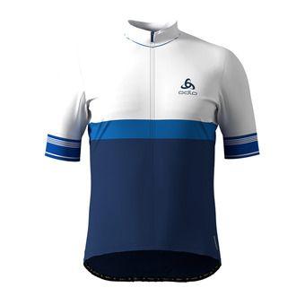 Maillot zip integral FUJIN CERAM Homme white - estate blue