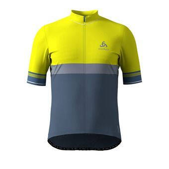 Odlo FUJIN CERAM - Maillot Homme safety yellow/bering sea