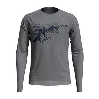 Odlo ALLIANCE - Camiseta hombre grey melange/mountain print