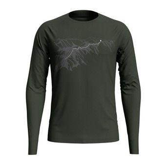 Odlo ALLIANCE - Camiseta hombre climbing ivy/mountain print