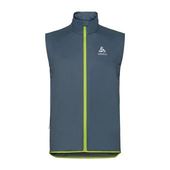 Odlo WINDPROOF WARM - Chaleco hombre bering sea/safety yellow/tradewinds