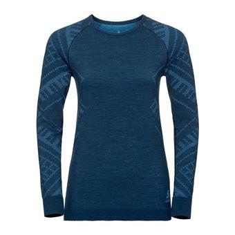 T-shirt ML NATURAL KINSHIP Femme blue wing teal melange