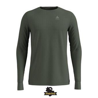 Odlo NATURAL 100% MERINO - Camiseta térmica hombre climbing ivy/grey melange