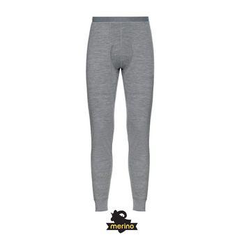 Odlo MERINO WARM - Collant Homme grey melange/grey melange