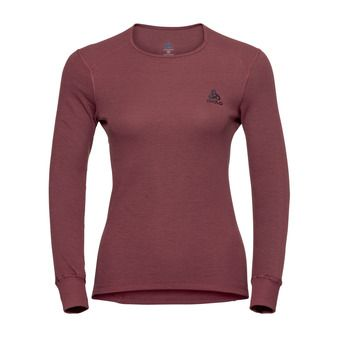 T-Shirt ML ACTIVE WARM Femme roan rouge