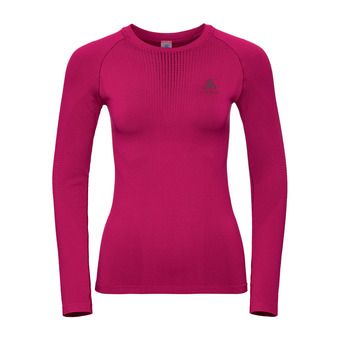 T-shirt ML PERFORMANCE WARM Femme cerise - decadent chocolate