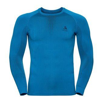 T-shirt ML PERFORMANCE WARM Homme directoire blue - black