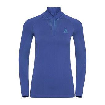 Odlo PERFORMANCE WARM - Camiseta térmica mujer clematis blue/niagara