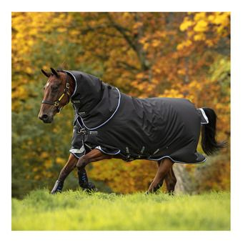 Horseware AMIGO BRAVO 12 PLUS - Couverture de paddock 250g black/str blue/black