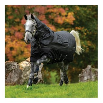 Horseware AMIGO BRAVO 12 REFLECTECH PLUS - Coperta da paddock 250g black/refl/black