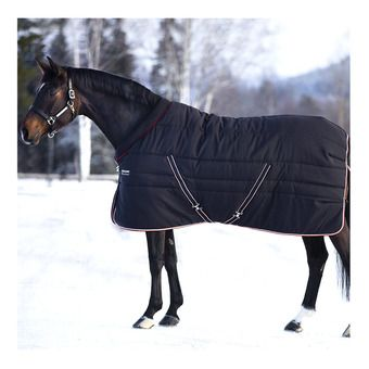 Horseware RAMBO COSY STABLE - Couverture de box 400g black tan oran black