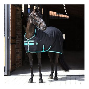 Horseware AMIGO STABLE SHEET - Coperta da box black/teal/dark cherry