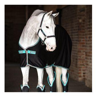 Horseware AMIGO JERSEY - Coperta assorbente black/teal/dark cherry