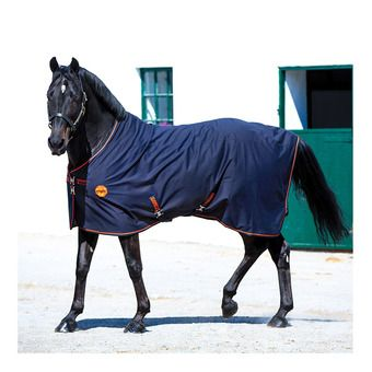 Horseware RAMBO IONIC - Coperta in pile black/black/orange stripe