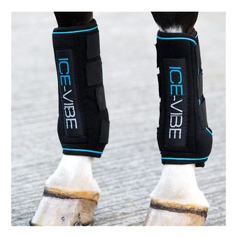 Horseware ICE-VIBE - Stinchiere da riposo black/aqua