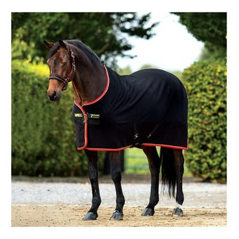 Horseware RAMBO SOFTY FLEECE - Coperta in pile black/gold/red