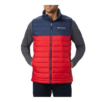 Columbia POWDER LITE - Doudoune Homme mountain red/collegiate navy