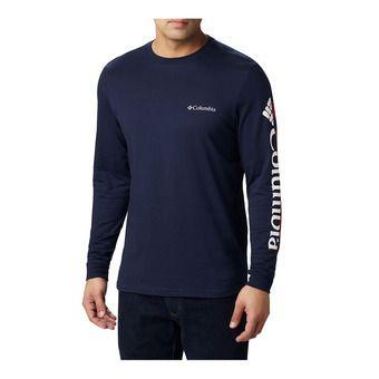 Columbia LODGE - Tee-shirt Homme collegiate navy/sleeve hit
