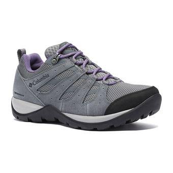 Columbia REDMOND V2 WP - Chaussures randonnée Femme grey steel/plum purple