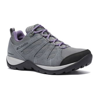 Columbia REDMOND V2 WP - Scarpe da escursionismo Donna grey steel/plum purple