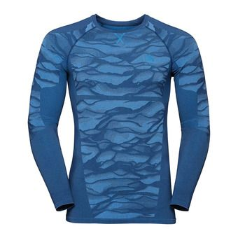 Odlo BLACKCOMB - Camiseta térmica hombre estate blue/placed print