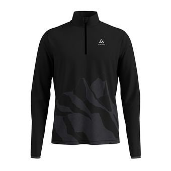 Odlo TRAFOI - Sweat Homme black/placed print