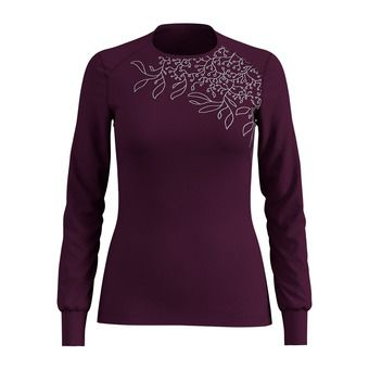 Odlo WARM PRINT - Camiseta térmica + mallas mujer pickled beet