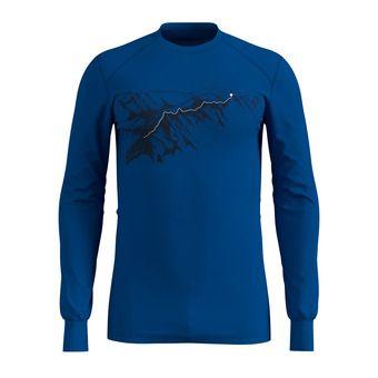 Odlo WARM PRINT - Camiseta térmica + mallas hombre energy blue