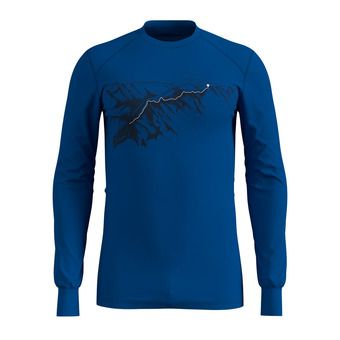T-shirt ML ACTIVE WARM PRINT Homme energy blue