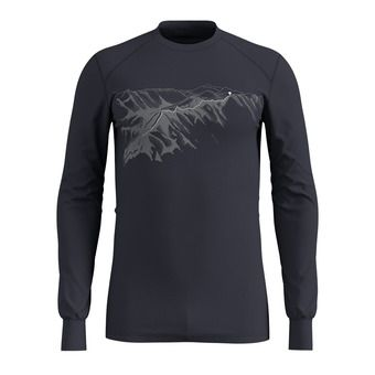 Odlo WARM PRINT - Sous-couche Homme india ink
